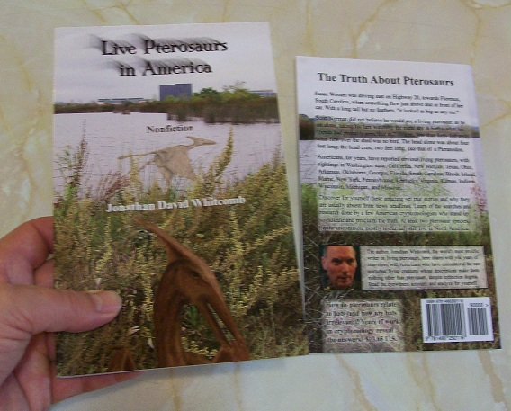 Live Pterosaurs in America -third edition of the nonfiction book - covers
